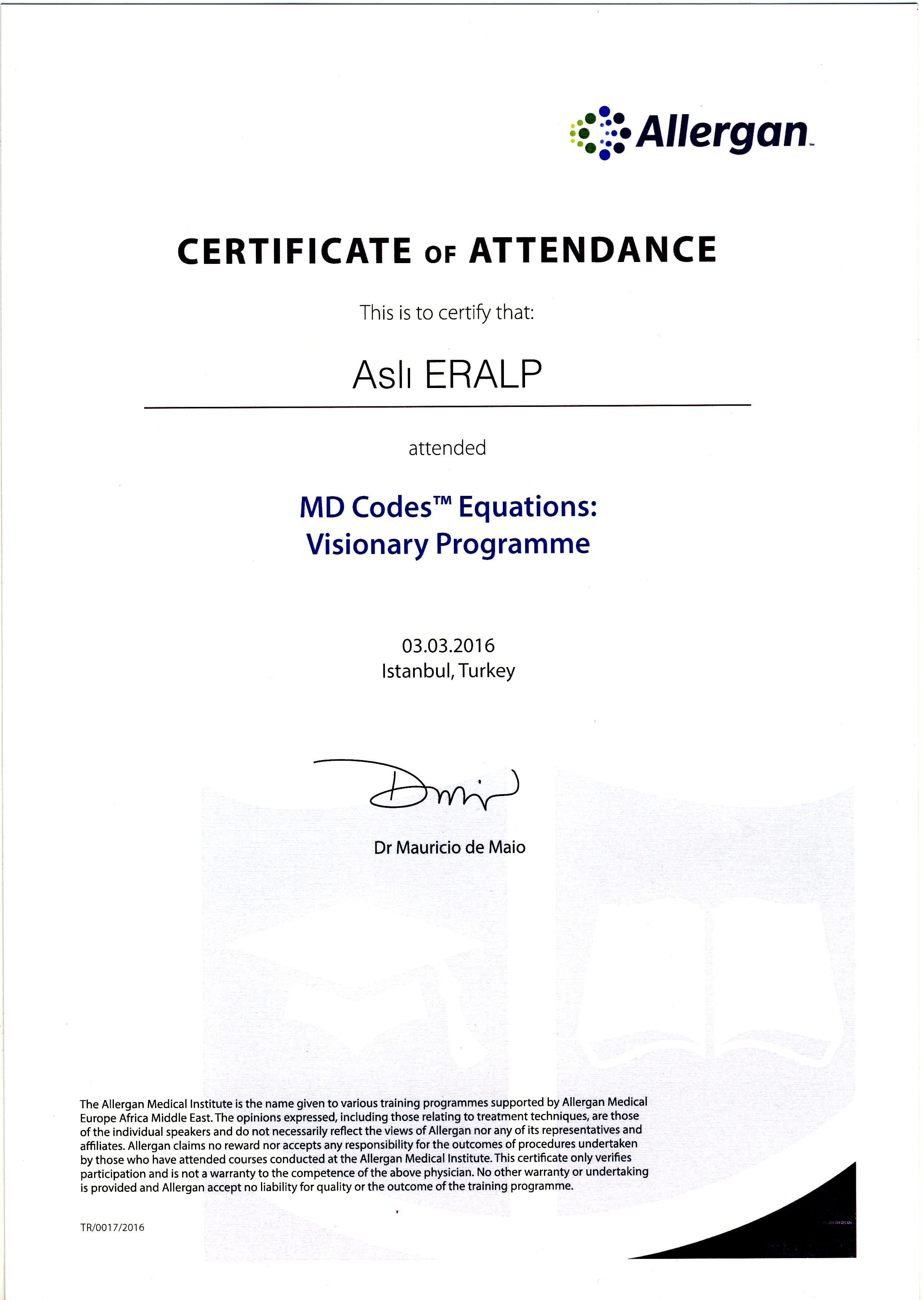 2016-006 MD Codes Visionary Programme