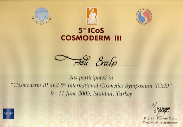 2003-002-Cosmoderm III and 5th International Cosmetics Symposium