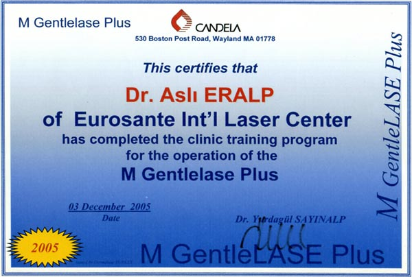 2005-005-Clinic Training Program for the Operation of the M Gentlelase Plus